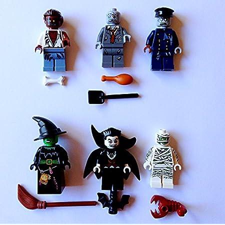 LEGO 3 NEW HALLOWEEN MINIFIGURES WEREWOLF FIGURES AND WITCH ZOMBIE VAMPIRE