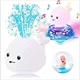 Baby Bath Toys,2 in 1 Electric Induction Whale Water Spray Toy,Boys Girls kids toys Age 1 2 3 4 5...