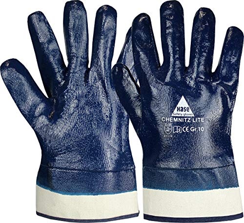 strongAnt CHEMNITZ Lite, guantes de seguridad de nitrilo EN 388 azul talla...