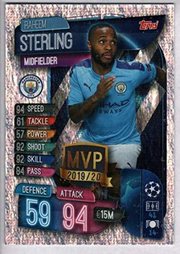 Soccer Pro 2019-20 Topps UEFA Champions League Match Attax Club MVPs #C MCY Raheem Sterling