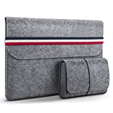 HOMIEE Custodia PC 15.4/15.6 Pollici con Piccola Borsa Aggiuntiva, Custodia Morbide per MacBook PRO/Acer/ASUS/dell/Lenovo/HP/Chromebook e Oltre 15.6 Pollici Notebook