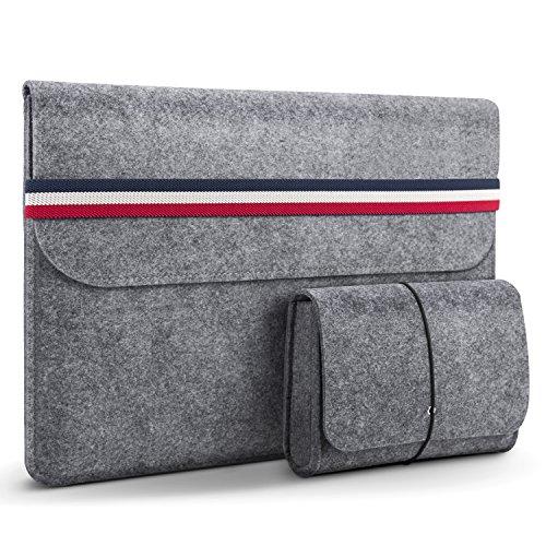 HOMIEE 15,4-15,6 Zoll Laptop Tasche mit zusätzlicher Aufbewahrungsbox und Mauspad, Aktentasche aus Filztablett, Tasche für 15,6 Zoll Laptop