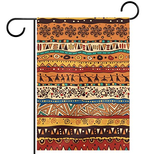 TIZORAX imobaby Afrikanische Ethische Muster Wasserdicht Polyester Stoff Gartenflagge 30,5 x 45,7 cm, Textil, multi, 12x18in