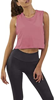 Mippo Women's Loose Flowy Mesh Workout Athletic Gym Crop Top Cropped Tee Muscle Tank