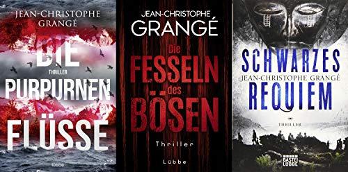 Jean-Christophe Grangé 3 Thriller im Set + 1 exklusives Postkartenset