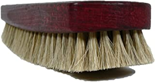 Valentino Garemi Prime Shoe Brush – Superior Shine & Polish - Horse Hair & Large Mahogany Dye Wood Handle –Made in Germany