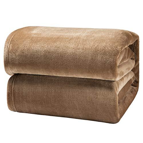 Bedsure Kuscheldecke Camel große Decke Sofa, weiche& warme Fleecedecke als Sofadecke/Couchdecke, kuschel Wohndecken Kuscheldecken, 230x270 cm extra flaushig und plüsch Sofaüberwurf Decke