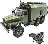 Camión de Control Remoto, 2.4G RC Military Truck Toy Car, 1/16 Scale Simulation 6 Wheel Drive Rock Heavy Duty Truck, para Adultos y niños Regalo de cumpleaños