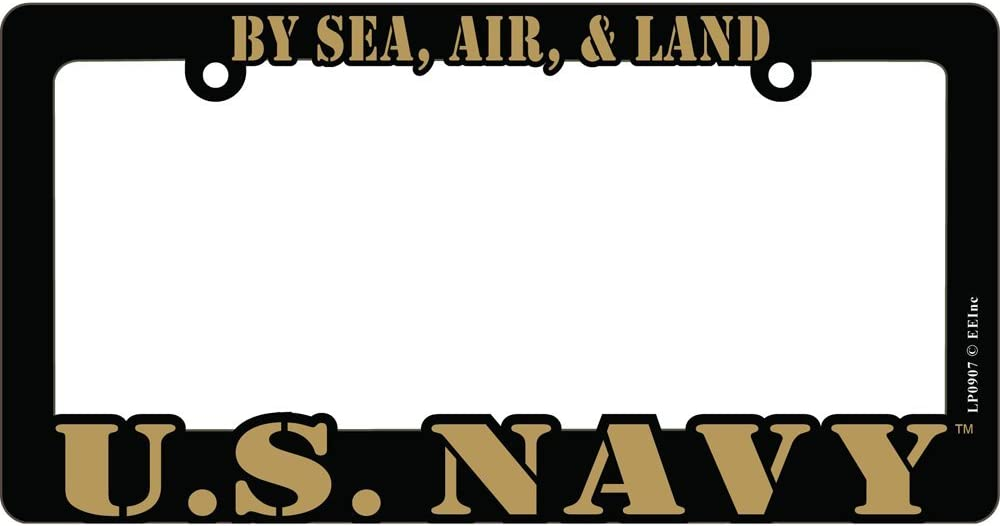 Over item handling ☆ US Ranking TOP9 Navy Proud to Serve License Plate Frame USN Auto