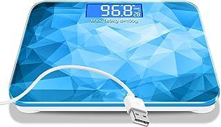 HTDZDX Báscula de pesaje electrónica de Carga, báscula Corporal de Salud en el hogar Pesaje de pérdida de Peso precisa Pesaje de medición, Pantalla LCD de Gran Escala - Cubo de Agua Azul