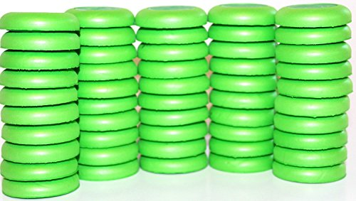 Popiball Green 50-disc Refill Elite Dart Soft Foam Disc for Disc Shooting Guns Nerf War Party Supplies