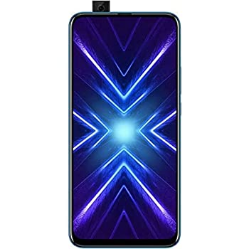 HONOR 9X Phantom Blue - Smartphone Bundle (6,59 Zoll Display, 128 + 4 GB) + 48MP AI Triple-Kamera + 16MP Pop-up Frontkamera + gratis HONOR Classic Earphones [Exklusiv bei Amazon] – Deutsche Version