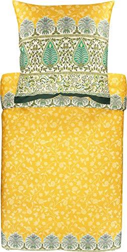 Bassetti Barisano Bettwäsche, Baumwolle, I1 Gelb, 200 x 135 cm (80 x 80 cm)