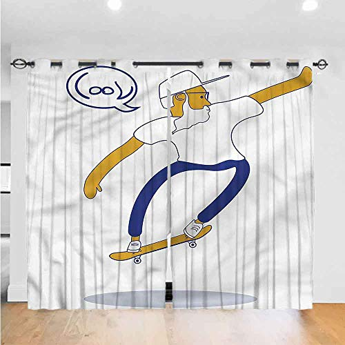 Zara Henry AbstractBedroom Curtains Living Room Curtains Kitchen Curtains Office Curtains BlackOutWindowCurtain Cool Hipster Skater Urban The Best Choice for Bedroom and Living Room W84xL84