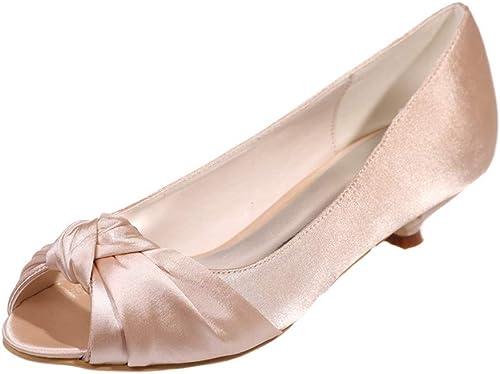 OEYW Chaussures Chaussures Chaussures de mariage pour la mariée à faible talon Mary Jane Chaussures de tribunal pour femmes Pompes à talon moyen Parti mariage Prom Talons Chaussures Sandales 111