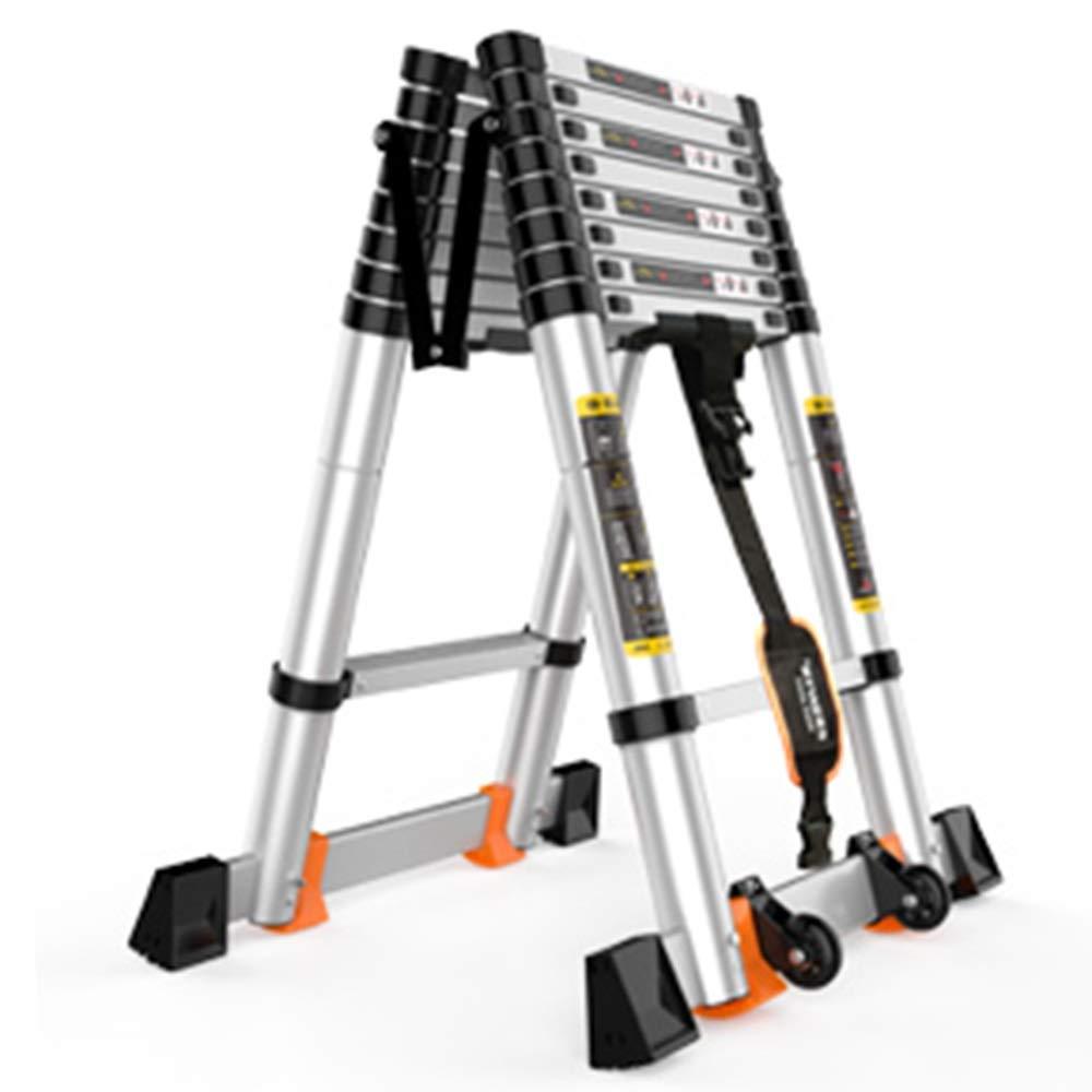 LJSJT Escalera Plegable De Aluminio Escalera Tipo A Escalera De Extensión Portátil Bisagra Y Varilla De Soporte Escalera De Ingeniería Teniendo Peso 150 Kg: Amazon.es: Hogar