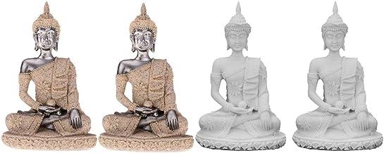 Flameer 4pcs Feng Shui Buddha Figurine Home Decor Statue Gift Outdoor Home Decor