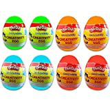 Play-Doh Party Favors Set for Toddlers Kids -- 8 Individual Creativity Eggs with Dough, Coloring Sheets, Stickers, and Crayons (PlayDoh Party Supplies)