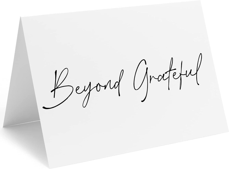 Premium Paper Beyond High order Grateful Thank Bl You Cards With Envelopes Elegant