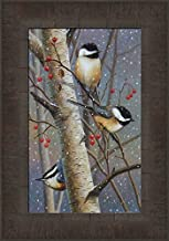 Woodland Sprites by Cynthie Fisher 11x15 Chickadees Birds Framed Art Print Wall Décor Picture