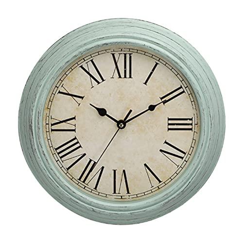 Sala De Estar Silenciosa Reloj De Retro Cuarzo Americano Creativo Reloj Plástico del Norte De Europa Blanco