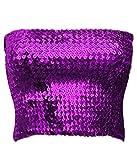Alivila.Y Fashion Sparkling Sequins Stretch Party Tube Top A11-Purple