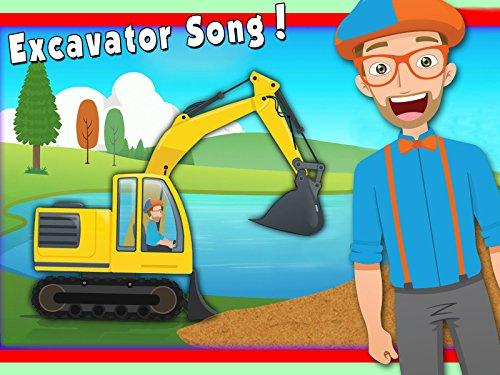 Excavator Song by Blippi - Construction Trucks for Children