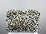 Bella-Vita GmbH Bunte Stofftasche mit Blütenmuster und Perlenbestickung in blau Damen-Tasche-Shopper