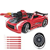 Pearlzus Smart Voice Remote Control Cars, Best Birthday Gifts Toys for 6-12 Year Old Boy, 2.4GHz Fast Race Stunt Racing Car for Kids, Voice Control Car with a Cool Light Effects (Red)