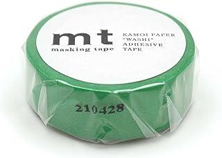 カモ井加工紙 mt マスキングテープ(15mmx7m) (1P, グリーン)