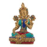 """Goddess Tara is known as the """"mother of liberation"""", and represents the virtues of success in work and achievements. Size : Height 8 Inch , Length 6 inch , Width 4 inches : Weight : 1.7 kg Enhance the decor value of the house, office, hotel, etc. Gre..."""