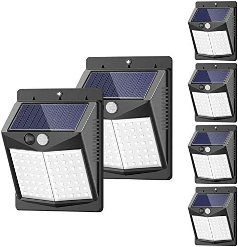 Solar Lights Outdoor 6 Pack 3 Modes 50LED SEZAC Motion Sensor Security Lights Solar Security product image