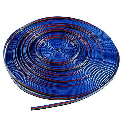 LitaElek 10m Cable Extensión Tira LED 4 Pines Cable de Conexión Cinta LED 4 Pin Conector Banda LED Extension Cable Divisor Splitter Connector Cable Distribución para SMD 5050 3528 2835 RGB LED Strip
