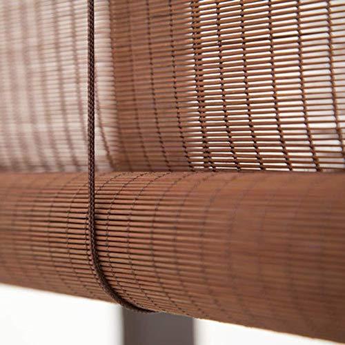 Obturador de rodillo natural Persianas for persianas enrollables Sombrilla Cortina de aislamiento Bloqueador solar Bambú 80% Sombreado Persianas enrollables de bambú Persianas romanas Opciones de tama