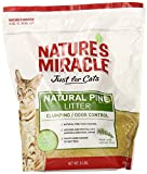 Nature's Miracle Natural Pine Clumping Cat Litter with Odor Control, No Dyes, 8