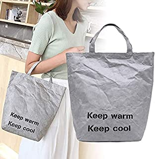 ZOZOE Women Grocery Tote Environmental Protecting Paper Reusable Shopping Bags Lightweight Handbag for Travel Shopping and Work
