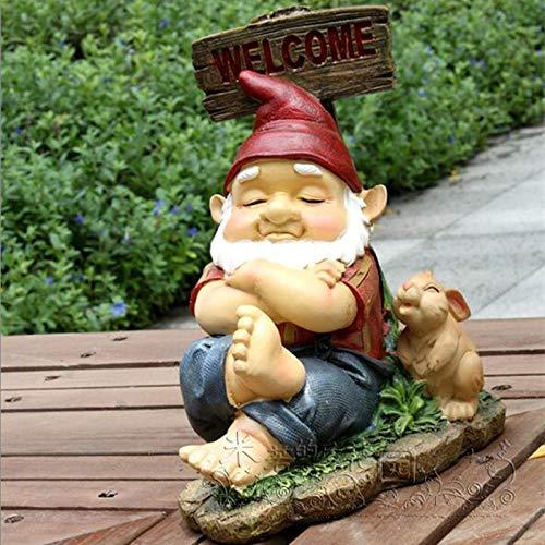 Garden animal ornaments Garden animal sculpture Dwarf Animal Figurine Tortoise Frog Rabbit Art Sculpture Decoration Resin Craft Home Decoration Garden Ornaments Gift-11.5cmX17X_22cm
