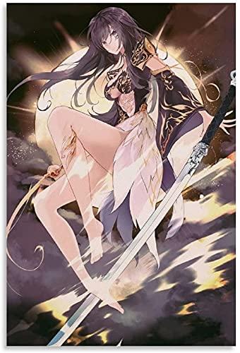 DCPPCPD Lienzo Pintura Al Óleo 60x90cm Sin Marco Anime Girl Full HD Wallpaper 4K Carteles Decorativos para Sala de Estar Pintura para Dormitorio