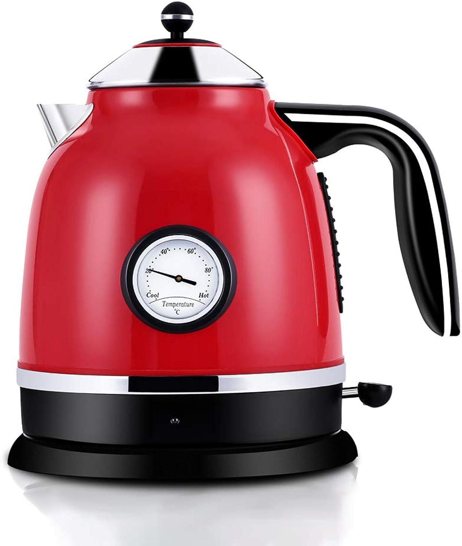 el estilo clásico HQQ HQQ HQQ Hervidor eléctrico, para té y café, 1.7 litros, Rojo  el mejor servicio post-venta