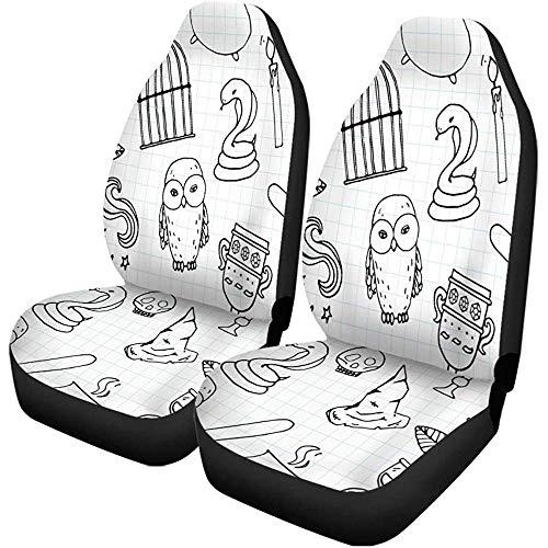TABUE 2PCS Autositzbezüge Potter Different Hexe Ausrüstung Harry Pattern Birdcage...