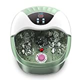 Foot Spa and Massager, Turejo Home Spa Bath with Bubble, 14 Manual Massage Rollers, Pumice Stone and Infrared Heater for Sore Feet Relief