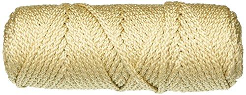 Pepperell - Cuerda de macramé, Color Perla/Beige, 4 mm, 45,7 m, acrílico