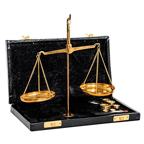 Balance Fino Dorado en Estuche boticario Balance Estilo Antiguo 21cm decoración
