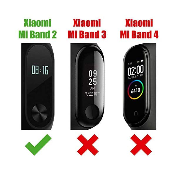 OcioDual Correa de Recambio Negra para Xiaomi Mi Smart Band 2 Smartwatch Bracalete Ajustable Reloj Pulsera Silicona… 2
