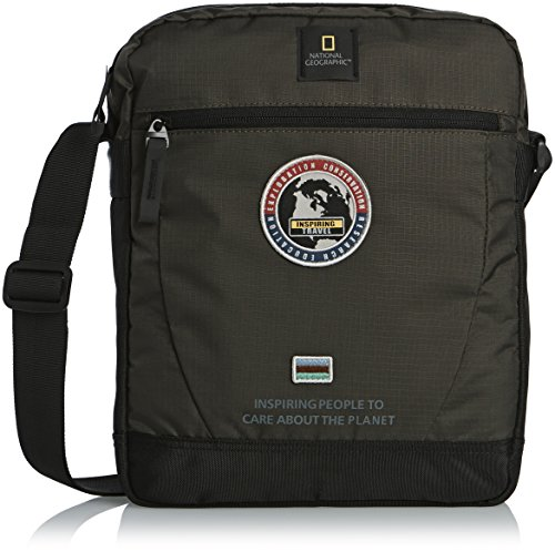 National Geographic Explorer Sac bandoulière avec compartiment pour tablette Kaki