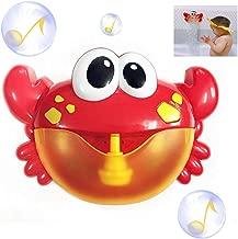 NAIZEA Automatic Bath Bubble Machine, Crab Bath Bubble Maker Baby Bath Bubble Toy with 12 Nursery Rhymes for Kids/Baby/Boys/Girls