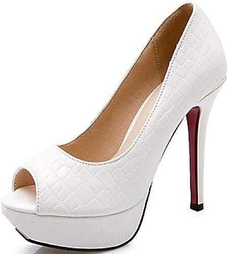 Weier. Ben Chaussure Confort Confort Femme Talon Aiguille PU (Polyurethane) Blanc Noir Rouge@Blanc_US7.5   EU38   UK5.5   CN38  branché