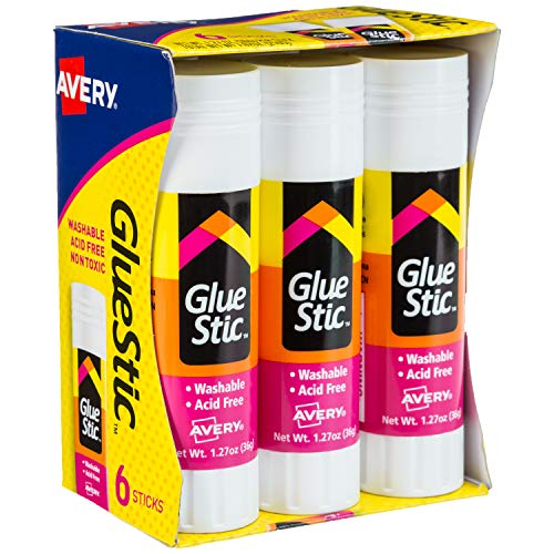 Avery Glue Stick White, Washable, Nontoxic, 1.27 oz. Permanent Glue...