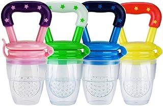 comprar comparacion 4 piezas Alimentador de alimentos para bebés, Comedero de frutas juguetes de dentición para Bebés Mesh Feeder Teethers Den...
