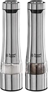 (Single Classics) - Russell Hobbs 23460-56 Battery Powered Salt and Pepper Grinders, Stainless Steel Silver